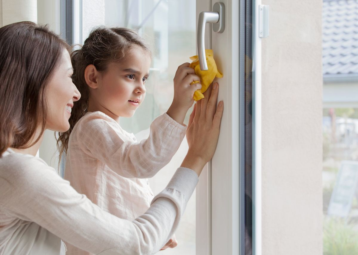 limpiar una ventana de PVC