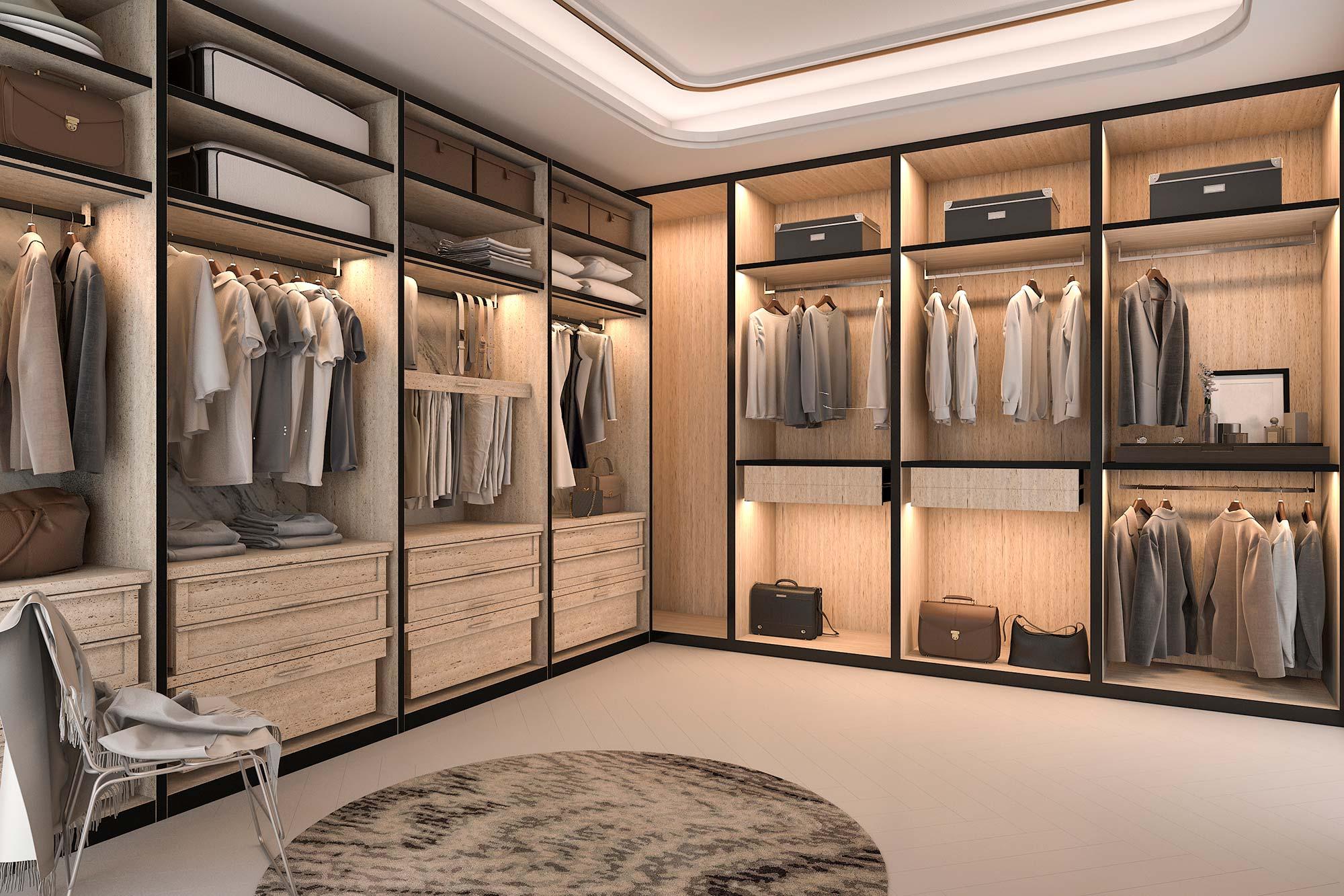 Qué es un walk in closet